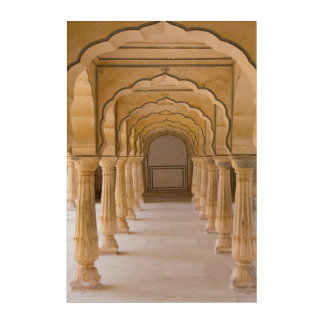 Amber Fort Arched Hall Acrylic Print