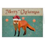 Amber Fox Christmas Card
