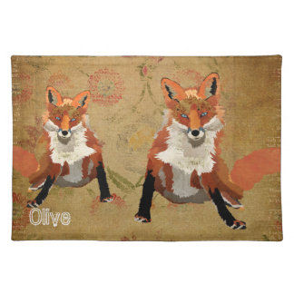 Amber Fox Floral Placemat