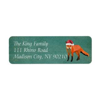 Amber Fox Holiday Address Label