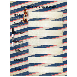 Amber Fox & Owl Weekly Planner Dry Erase Board