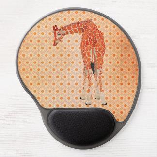 Amber Giraffe Daisy Mousepad Gel Mouse Pad