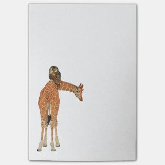 Amber Giraffe & Owl Post It Note Post-it® Notes