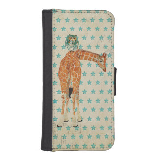 Amber Giraffe &  Owl Wallet Case Phone Wallets
