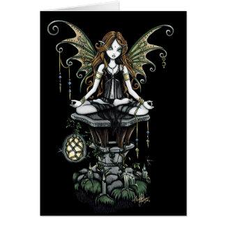 """Amber"" Gothic Lotus Nature Faerie Art Card"