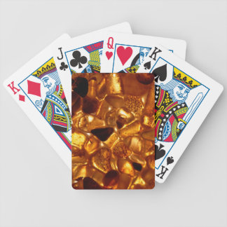 Amber grains with backlight illumination bicycle playing cards