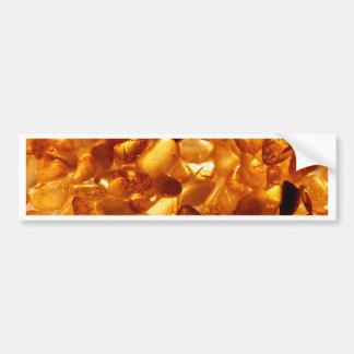 Amber grains with backlight illumination bumper sticker