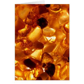Amber grains with backlight illumination card