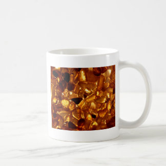 Amber grains with backlight illumination coffee mug