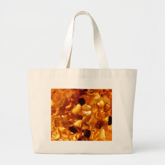 Amber grains with backlight illumination large tote bag