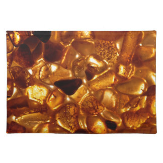 Amber grains with backlight illumination placemat