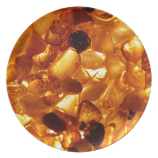 Amber grains with backlight illumination plate
