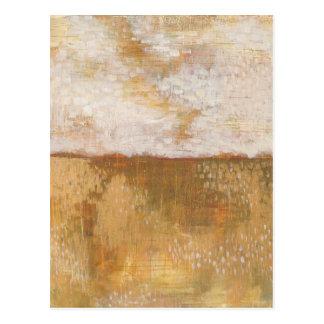 Amber Horizon Abstract Print | Melissa Averinos Postcard