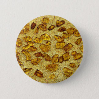 Amber inclusions | 6 cm round badge