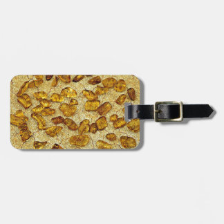 Amber inclusions | luggage tag