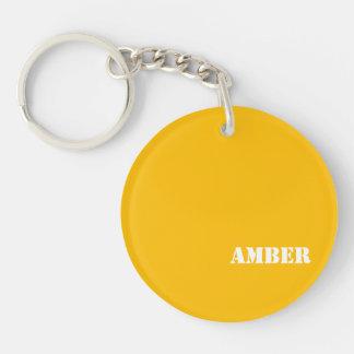 Amber Acrylic Keychains