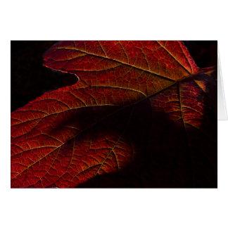 Amber Leaf Greeting Card