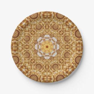 Amber Mandala 7 Inch Paper Plate