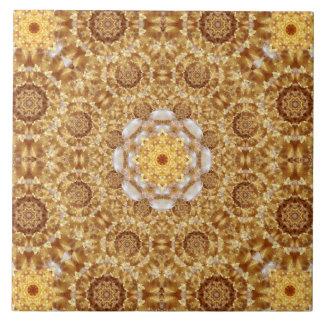 Amber Mandala Ceramic Tile
