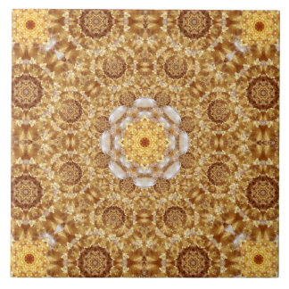 Amber Mandala Large Square Tile