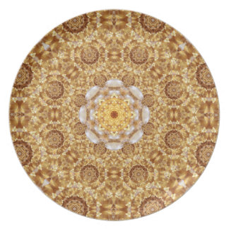 Amber Mandala Party Plates