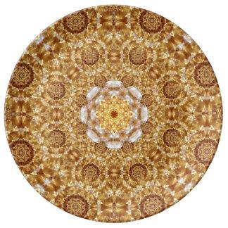 Amber Mandala Porcelain Plate
