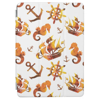 Amber nautical pattern custom background color iPad air cover