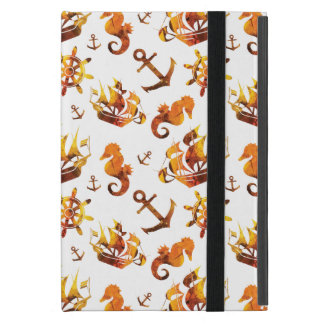 Amber nautical pattern custom background color iPad mini cover