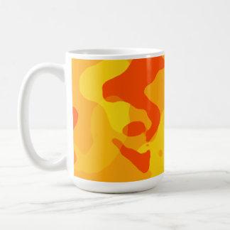 Amber Orange Camo; Camouflage Mugs