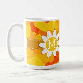 Amber Orange Camo; Daisy Coffee Mugs