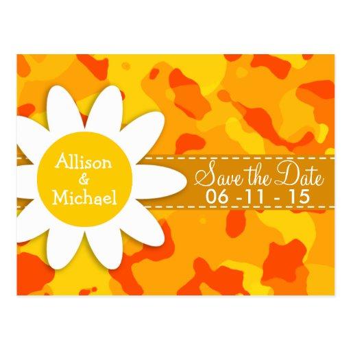 Amber Orange Camo; Daisy Post Card