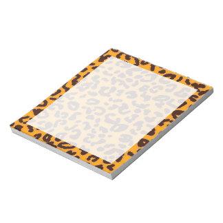 "Amber Orange Leopard ""animal print"" Notepad"