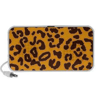 Amber Orange Leopard animal print iPod Speakers