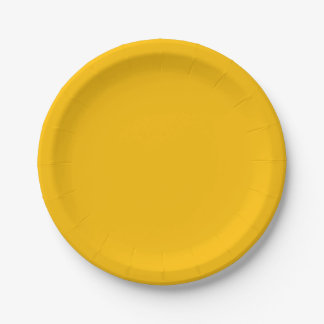 Amber Paper Plate