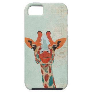 Amber Peeking Giraffe  Blue  iPhone Case iPhone 5 Case