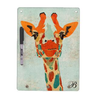 Amber Peeking Giraffe Dry Erase Board