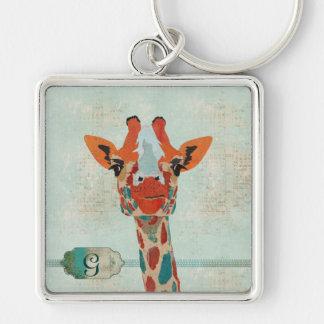 Amber Peeking Giraffe  Keychain