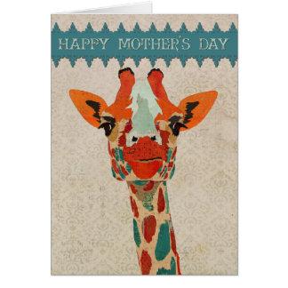 Amber Peeking Giraffe  Mother's Day Card II