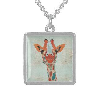 Amber Peeking Giraffe Necklace
