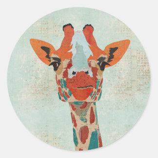 Amber Peeking Giraffe Sticker