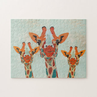 Amber Peeking Giraffes  Puzzle