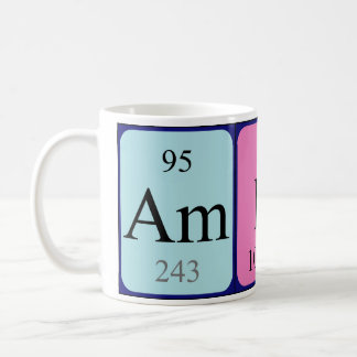 Amber periodic table name mug