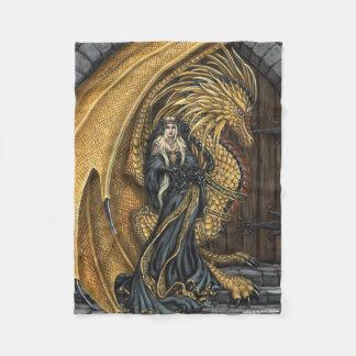 Amber Princess & Dragon Fleece Blanket