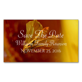 Amber Save The Date Magnetic Business Card