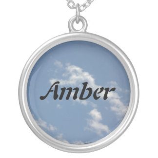 Amber Silver Plated Necklace