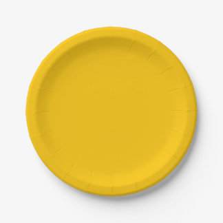 Amber Solid Colour Customise It Paper Plate