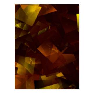 Amber Stars Cubed Postcard