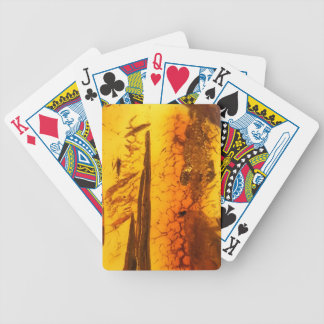 Amber stone bicycle playing cards