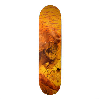 Amber stone texture background 21.6 cm old school skateboard deck