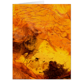 Amber stone texture background card